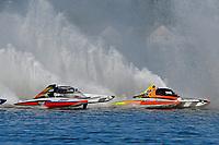 """Kent Henderson, H-777 """"Steeler"""", Dylan Runne, H-12 """"Pleasure Seeker""""    (H350 Hydro) (5 Litre class hydroplane(s)"""