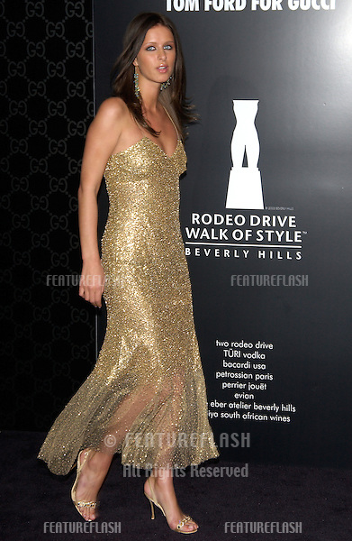 NIKKI HILTON at the Rodeo Drive Walk of Style Gala honoring Gucci's Tom Ford..March 28, 2004
