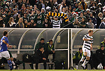 09 December 2011: A large section of UNCC fans cheered their team on througout the game. The Creighton University Bluejays played the University of North Carolina Charlotte 49ers to a 0-0 overtime tie, the 49ers won the penalty shootout 4-1 to advance at Regions Park in Hoover, Alabama in an NCAA Division I Men's Soccer College Cup semifinal game.