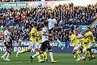 Bolton Wanderers' Josh Magennis heads at goal<br /> <br /> Photographer Andrew Kearns/CameraSport<br /> <br /> The EFL Sky Bet Championship - Bolton Wanderers v Blackburn Rovers - Saturday 6th October 2018 - University of Bolton Stadium - Bolton<br /> <br /> World Copyright © 2018 CameraSport. All rights reserved. 43 Linden Ave. Countesthorpe. Leicester. England. LE8 5PG - Tel: +44 (0) 116 277 4147 - admin@camerasport.com - www.camerasport.com