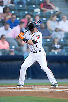 Kelby Tomlinson (1) of the Richmond Flying Squirrels at bat against the Bowie Baysox at The Diamond on May 23, 2015 in Richmond, Virginia.  The Baysox defeated the Flying Squirrels 3-2.  (Brian Westerholt/Four Seam Images)