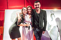 """Miguel Reveriego and his family during the opening """"Mi España"""""""