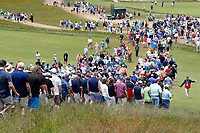 Spectators cross the 9th fairway during the second round of the 118th U.S. Open Championship at Shinnecock Hills Golf Club in Southampton, NY, USA. 15th June 2018.<br /> Picture: Golffile | Brian Spurlock<br /> <br /> <br /> All photo usage must carry mandatory copyright credit (&copy; Golffile | Brian Spurlock)