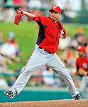 6 March 2012: Washington Nationals pitcher Sean Burnett on the mound during a Spring Training game against the Atlanta Braves at Champion Park in Disney's Wide World of Sports Complex, Orlando, Florida. The Nationals defeated the Braves 5-2 in Grapefruit League action. Mandatory Credit: Ed Wolfstein Photo