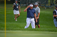 Phil Mickelson (USA) tips his hat to the crowd as he approaches his ball on 14 during 2nd round of the World Golf Championships - Bridgestone Invitational, at the Firestone Country Club, Akron, Ohio. 8/3/2018.<br /> Picture: Golffile | Ken Murray<br /> <br /> <br /> All photo usage must carry mandatory copyright credit (© Golffile | Ken Murray)