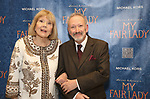 Diana Rigg and Allan Corduner attends the Broadway Opening Night Celebration for 'My Fair Lady' at The Grand Promenade, David Geffen Hall on April 19, 2018 in New York City.