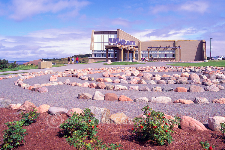 """Joggins Fossil Cliffs"" Centre, Joggins, NS, Nova Scotia, Canada - UNESCO World Heritage Site (2008) along Bay of Fundy - Fundy Shore & Annapolis Valley Region"