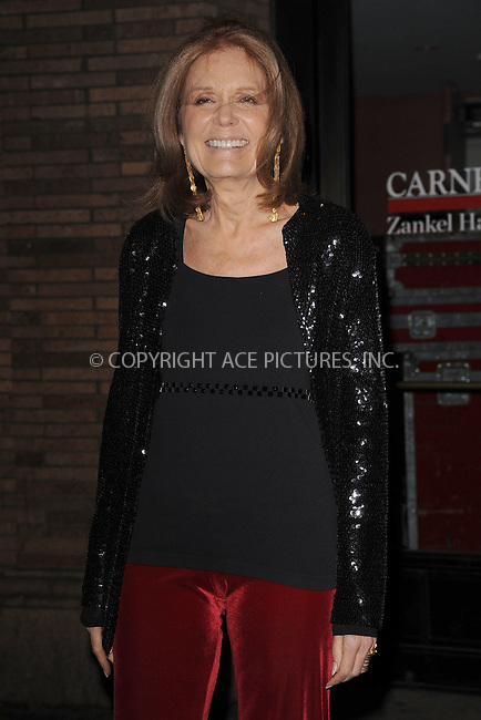 WWW.ACEPIXS.COM . . . . . .November 7, 2011...New York City...Gloria Steinem attends the 21st annual Glamour Women of the Year Awards at Carnegie Hall on November 7, 2011in New York City....Please byline: KRISTIN CALLAHAN - ACEPIXS.COM.. . . . . . ..Ace Pictures, Inc: ..tel: (212) 243 8787 or (646) 769 0430..e-mail: info@acepixs.com..web: http://www.acepixs.com .