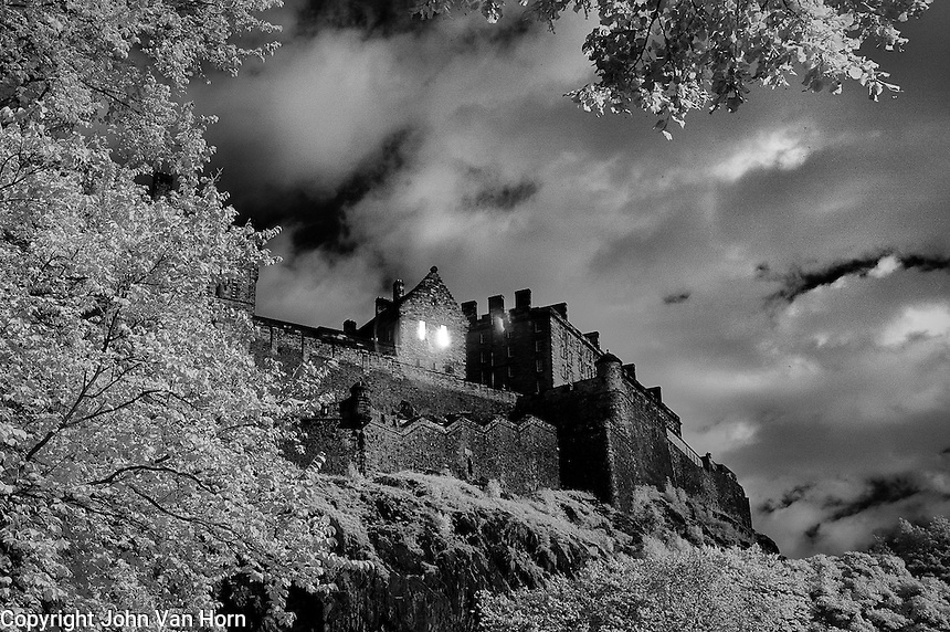 Infrared photos of Edinburgh Castle, Edinburgh Scotland