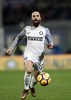 Calcio, Serie A: Fiorentina - Inter, stadio Artemio Franchi Firenze 5 gennaio 2018.<br /> Inter's Borja Valero in action during the Italian Serie A football match between Fiorentina and Inter Milan at Florence's Artemio Franchi stadium, January 5 2018.<br /> UPDATE IMAGES PRESS/Isabella Bonotto
