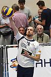 13.10.2018,  Lueneburg GER, VBL, SVG Lueneburg vs United Volleys Rhein-Main im Bild Einzelaktion Hochformat Matthias Pompe(Lueneburg #10) / Foto © nordphoto / Witke