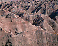 67SDBD_101 - USA, South Dakota, Badlands National Park, North Unit, Huge maze of soft, eroded clay formations, from Big Badlands Overlook.