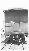 Baggage #126 end detail.<br /> D&amp;RGW  Salida, CO  Taken by Maxwell, John W. - 5/29/1948