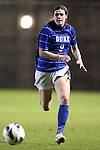 18 October 2012: Duke's Kelly Cobb. The University of North Carolina Tar Heels defeated the Duke University Blue Devils 2-0 at Koskinen Stadium in Durham, North Carolina in a 2012 NCAA Division I Women's Soccer game.