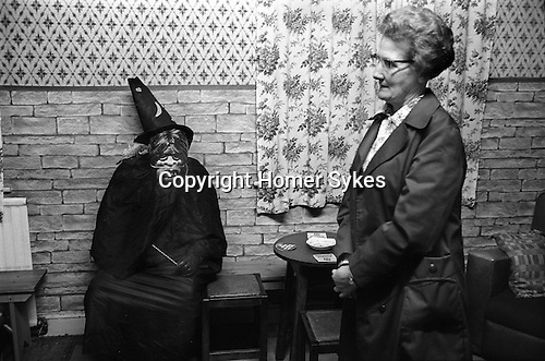 Caking Night, Dungworth, Sheffield, Yorkshire 1974. Royal Hotel Dungworth actually the local pub, but with grand name. Tradition associated with All Souls Day. November 1st usually.