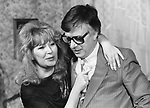 Soviet compositor Raimonds Pauls and singer Alla Pugacheva. / Советский композитор Раймонд Паулс и певица Алла Пугачева.