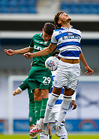 11th July 2020; The Kiyan Prince Foundation Stadium, London, England; English Championship Football, Queen Park Rangers versus Sheffield Wednesday; Alex Hunt of Sheffield Wednesday challenges Luke Amos of Queens Park Rangers