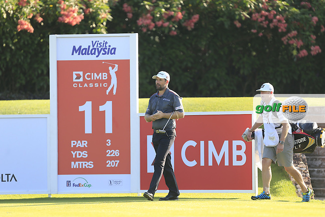 Padraig Harrington (IRL) on the 11th tee during Round 3 of the 2015 CIMB Classic at the Kuala Lumpur Golf &amp; Country Club in Malaysia on Saturday 31/10/15.<br /> Picture: Thos Caffrey | Golffile