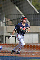 University of Virginia Cavaliers outfielder Derek Fisher #23  at bat during a game against the University of Kentucky Wildcats at Brooks Field on the campus of the University of North Carolina at Wilmington on February 14, 2014 in Wilmington, North Carolina. Kentucky defeated Virginia by the score of 8-3. (Robert Gurganus/Four Seam Images)