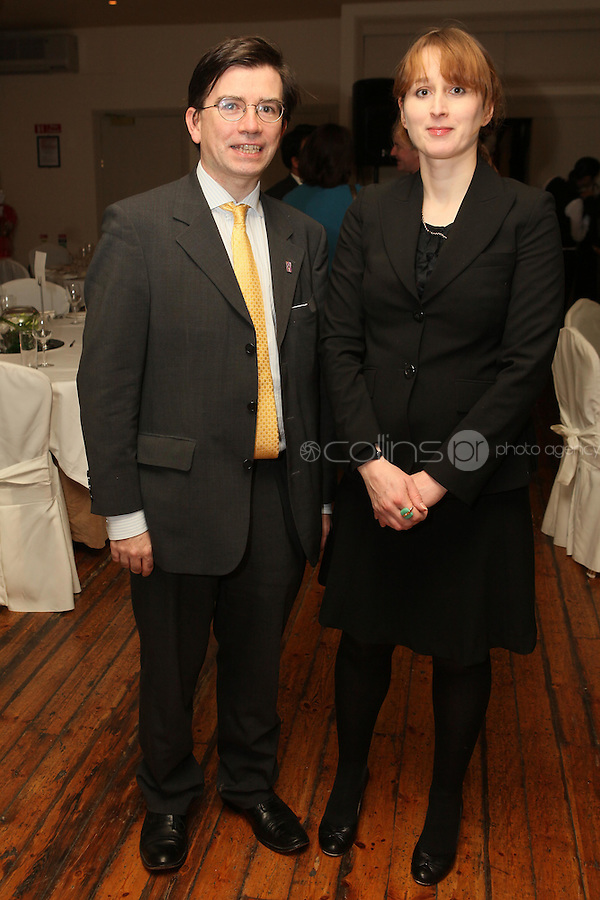 NO REPRO FEE. 23/11/2010. ICCL annual fundraising dinner. Pictured at Fallon and Byrnes, Dublin for the ICCL's fundraising dinner for legal practitioners were John O Dowd and Catherine Donnelly  . Picture James Horan/Collins Photos