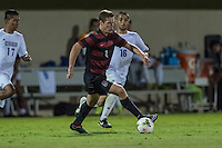 STANFORD, CA - August 19, 2014: Foster Langsdorf during the Stanford vs CSU Bakersfield men's exhibition soccer match in Stanford, California.  Stanford won 1-0.