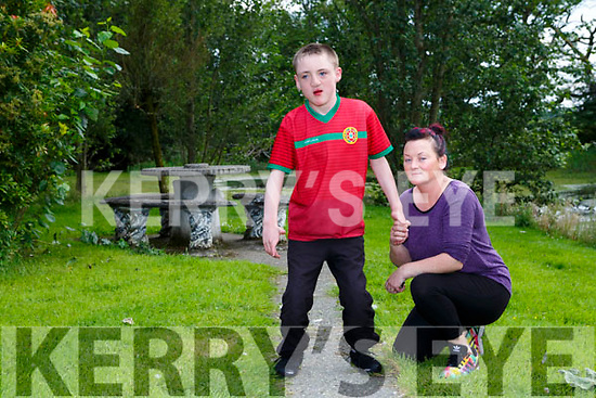 Shane Brosnan Currow with his mother Norita who has started a Go Fund Me account to help him to walk