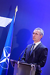 Secretary General of NATO Jens Stoltenberg in press conference. January 25,2018. (ALTERPHOTOS/Acero)
