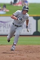 El Paso Chihuahuas Hunter Renfroe (10) runs to third base during the game against the Omaha Storm Chasers at Werner Park on May 30, 2016 in Omaha, Nebraska.  El Paso won 12-0.  (Dennis Hubbard/Four Seam Images)