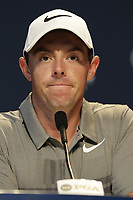 Rory McIlroy (NIR) press conference during Tuesday's Practice Day of the 2017 PGA Championship held at Quail Hollow Golf Club, Charlotte, North Carolina, USA. 8th August 2017.<br /> Picture: Eoin Clarke | Golffile<br /> <br /> <br /> All photos usage must carry mandatory copyright credit (&copy; Golffile | Eoin Clarke)