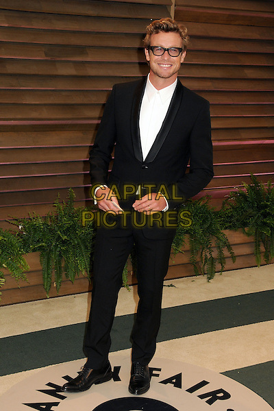 02 March 2014 - West Hollywood, California - Simon Baker. 2014 Vanity Fair Oscar Party following the 86th Academy Awards held at Sunset Plaza.  <br /> CAP/ADM/BP<br /> &copy;Byron Purvis/AdMedia/Capital Pictures