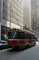 A tramway pass in front of the Royal Bank of Canada building on King Street West in downtown Toronto, April 20, 2007....    photo by Pierre Roussel - Images Distribution