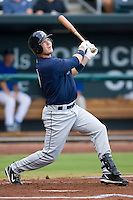 Cole Gillespie (9) of the Huntsville Stars follows through on his swing at the Baseball Grounds in Jacksonville, FL, Wednesday June 11, 2008.