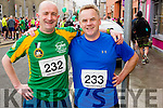 Mark O'Shea and Paudie Barrett  at the start of the Kerry's Eye Tralee, Tralee Half Marathon on Saturday.