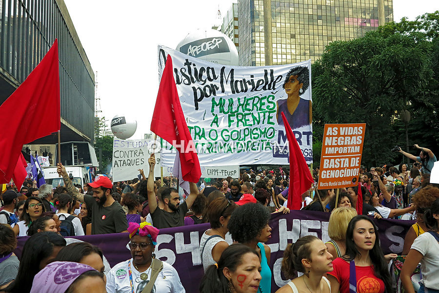 Dia internacional da mulher. Sao Paulo. 2019. Foto de Marcia Minillo