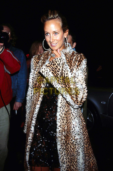 LADY VICTORIA HERVEY   ..UKC Hero Award last night..Ref: 11343..leopard print fur coat, animal print, hoop earrings, half length, half-length..www.capitalpictures.com..sales@capitalpictures.com..©Capital Pictures..