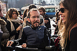 Spanish Podemos member Pablo Echenique  after the meeting between members of the canopy of Podemos to seek unity between the different proposals in Madrid. Spain. January 25th 2017. (ALTERPHOTOS/Rodrigo Jimenez)