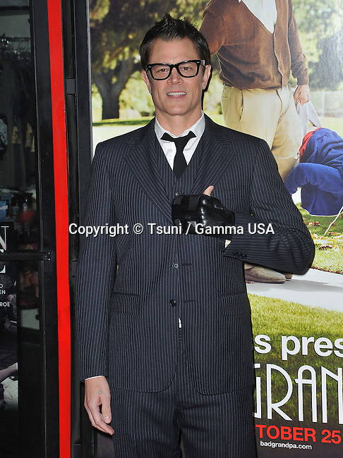 Johnny Knoxville at the Bad GranPa Premiere at the TLC Chinese Theatre In Los Angeles.