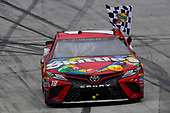 #18: Kyle Busch, Joe Gibbs Racing, Toyota Camry Skittles celebrates his win
