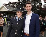 10/09/2015<br /> Garda Ciara Curtis, Knocklyon, Dublin pictured with her brother Fergal at the Garda Graduation Ceremony at the Garda College, Templemore, Co. Tipperary.<br /> Pic: Press 22