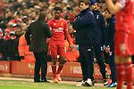 Manager of Liverpool, Brendan Rodgers  thanks Daniel Sturridge - Liverpool vs. Tottenham Hotspurs - Barclay's Premier League - Anfield - Liverpool - 10/02/2015 Pic Philip Oldham/Sportimage