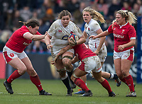 England Women's Sarah Beckett in action during todays match<br /> <br /> Photographer Bob Bradford/CameraSport<br /> <br /> 2020 Women's Six Nations Championship - England v Wales - Saturday 7th March 2020 - The Stoop - London<br /> <br /> World Copyright © 2020 CameraSport. All rights reserved. 43 Linden Ave. Countesthorpe. Leicester. England. LE8 5PG - Tel: +44 (0) 116 277 4147 - admin@camerasport.com - www.camerasport.com