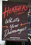 Theatre Poster at the Open Press Rehearsal for 'Heathers The Musical' on February 19, 2014 at The Snapple Theatre Center in New York City.