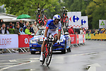 Mickael Delage (FRA) FDJ in action during Stage 1, a 14km individual time trial around Dusseldorf, of the 104th edition of the Tour de France 2017, Dusseldorf, Germany. 1st July 2017.<br /> Picture: Eoin Clarke | Cyclefile<br /> <br /> <br /> All photos usage must carry mandatory copyright credit (&copy; Cyclefile | Eoin Clarke)