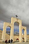 Judean Desert, Greek Orthodox St. George Monastery on the slope of Wadi Qelt