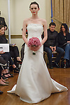 Model walks runway in an Alegra bridal gown from the Peter Langner Bridal collection 2017, at the 3 West Club on April 16, 2016 during New York Bridal Fashion Week Spring Summer 2017.