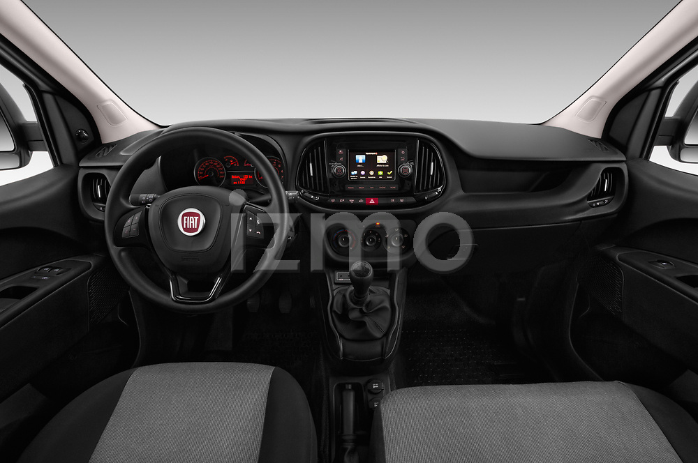 Stock photo of straight dashboard view of 2016 Fiat Doblo Pack 4 Door Cargo Van