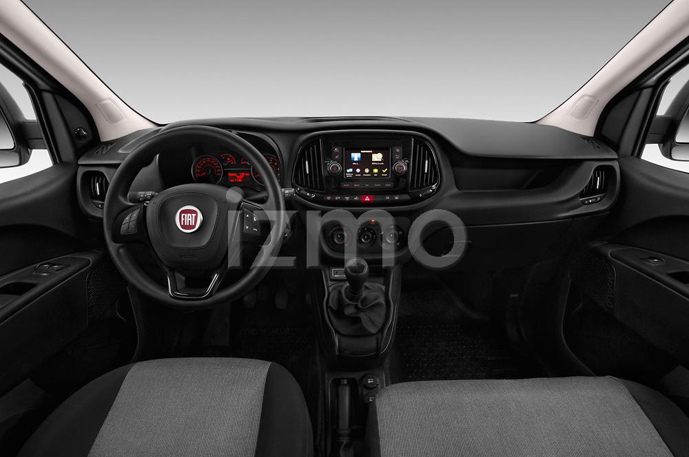 Stock photo of straight dashboard view of 2016 Fiat Doblo Pack 4 Door Cargo Van
