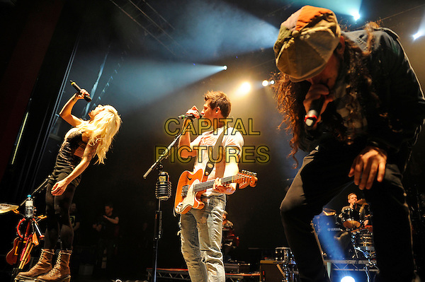 LONDON, ENGLAND - April 3: Sarah Blackwood, Ryan Marshall and  Gianni Luminati of Walk Off The Earth perform in concert at the o2 Shepherd's Bush Empire on April 3, 2014 in London, England<br /> CAP/MAR<br /> &copy; Martin Harris/Capital Pictures
