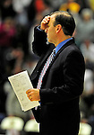 12 December 2010: University of Vermont Vermont Catamounts' Head Coach Mike Lonergan on the bench during a game against the Marist College Red Foxes at Patrick Gymnasium in Burlington, Vermont. The Catamounts (7-2) defeated the Red Foxes 75-67 notching their 7th win of the season, and their best start since the '63-'64 season. Mandatory Credit: Ed Wolfstein Photo
