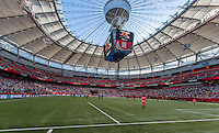 June 12, 2015: A view of the BC Place stadium prior to the start of a Group C match at the FIFA Women's World Cup Canada 2015 between Cameroon and Japan at BC Place Stadium on 12 June 2015 in Vancouver, Canada. This photo is a HDR composite. Japan won 2-1. Sydney Low/AsteriskImages